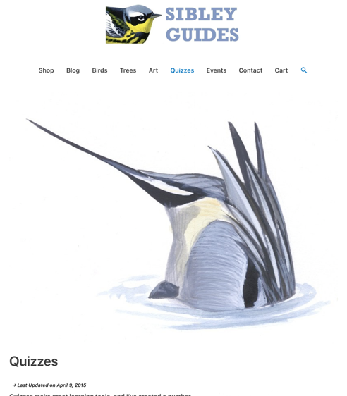 SIBLEY GUIDES QUIZZES